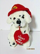 Vintage 1987 Dakin Firehouse Fritz Dalmatian Puppy Plush Light My Fire Valentine