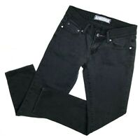 Flying Monkey womens Jeans Skinny size 27 Ankle Black Crop Stretch Denim
