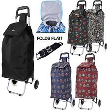 Hoppa Large Capacity Light Weight Wheeled Shopping Trolley Push Cart Bag wheels