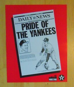 Steve Sax Daily News Pride of The Yankees Cardboard Poster Gallo caricature