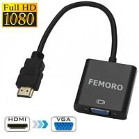 1080P HDMI Male to VGA Female Video Cable Adapter Cord Converter  for HDTV PC