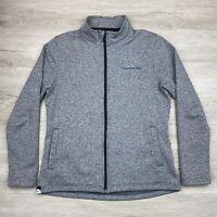 Sun Mountain Thermal Wear Womens Heather Gray Full Zip Fleece Jacket Size Medium