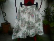 Cath Kidston cotton cottage garden scene skirt with pockets xs