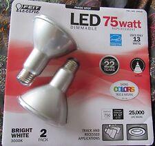 2 pack LED Feit PAR30 Spot Dimmable Light Bulb 750 Lumens 75W Replacement 13W