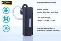 K8 HD BT Headset Earphone Spy Hidden Camera Digital Video Cam Recorder DVR Black