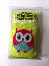 Reusable Owl Mini Bottle Gel Hand Warmers Pocket &Hand Groves Knitted Cover **