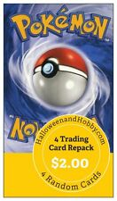 1  X1 POKEMON 4 Card PACK LOT RANDOM BOX PACK REPACK BOOSTER COLLECTION