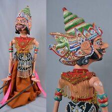 Muñeco de madera Wayang Golek Original Títeres de varilla de Java, GO25X