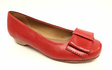 HOTTER Size 36 Red Ballet Flats Shoes w/ Bow 5