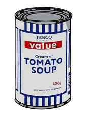 Banksy Tesco Cream Tomato Soup A3 Box Canvas Print