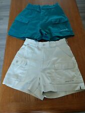Women's Sportif Shorts Size 10 Lot Of 2 Pre-owned Fishing Boating Hiking #168