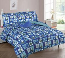8pc Sailor Octopus Whale Anchor Full Comforter Bedding Sheet Set Bed in a Bag