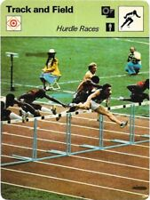 1978 Sportscaster Card Track and Field Hurdle Races # 25-16 NRMINT.