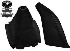 BLACK FITS MAZDA MX5 MK1 EUNOS 1989-1997 LEATHER GEAR HANDBRAKE GAITERS