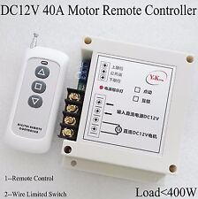 12V Motor Remote Switch Forwards Reverse Up DownStop Wireless Limit Switch cycle