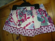 MONSOON SKIRT + KNICKERS SET AGE 3-6 MONTHS LINED FLORAL COTTON WITH EMBROIDERY