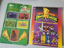 Mighty Morphin Power Rangers reflex magnets and coloring book