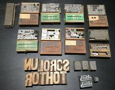 New Listing10 Sets Of Letterpress Type Plus Misc Wood Type Vintage Lot Printing Windmill