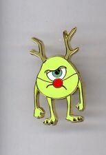 Disney Catalog Monsters Inc Mike Wazowski w/ Rudolph Red Nose Antlers Advent Pin