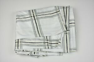 """Room Essentials Shower Curtain 72""""x72"""" - Plaid Grey and White"""