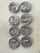 Vintage 1962 Seattle Worlds Fair .999 SILVER Coin Set 8 Medals