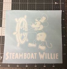 Steamboat Willie 1928 Replica Vinyl Window Decal Car Wall Case Disney Sticker