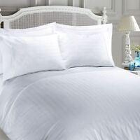 Luxury 400 Thread Sateen Satin Stripe 100%Egyptian Cotton Duvet Quilt Cover Set