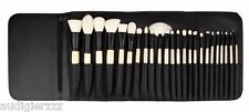 New! Coastal Scents Elite 24 Brush Set Professional Cosmetic Brushes + BlackCase