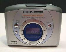 Philips Magnavox Stereo Tape Am/Fm Radio Cassette Player Model Aq6688 Bass Boost