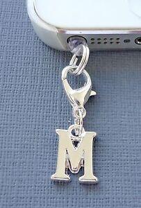Alphabet Letter M cell phone Charm Anti Dust proof Plug headphone jack C43
