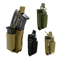 Open-Top Single Elastic Molle Mag Pouch for Rifle and Pistol Magazines Bag
