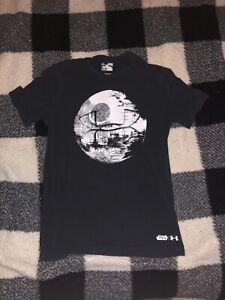 Star Wars Under Armour Heat gear Men's T Shirt Death Star 2 Size Small