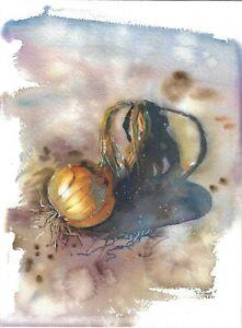 original painting 23 x 31 cm 228SE art samovar watercolor Realism onion Signed