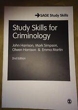 STUDY SKILLS FOR CRIMINOLOGY (SAGE Study Skills): 2nd Edition (2012)