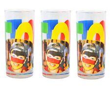 3er Set Wasserglas Face Tatoo Saftglas Wassergläser Saftgläser Glas Fussballglas