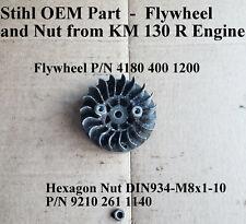 Stihl Oem Part from Km 130R Engine *Flywheel & Nut *P/N 4180 400 1200 Used