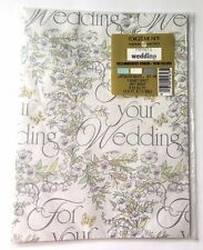 Vtg American Greetings Wedding Shower White Silver Gift Wrap Paper One Lg Sheet