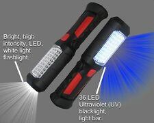 UV, LED 395nm Black Light and White light Flashlight, Two Modes, Two Lights!