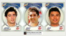 2006 NRL Accolades Series Trading Cards Face Die Cut Team Set Roosters(10)