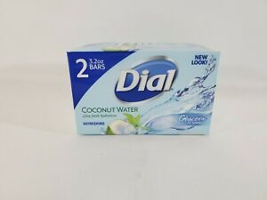 Dial Coconut Water Gentle Cleansing Soap 2 Bars 3.2 oz. Ea