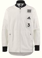 Adidas Herren Jacke Jacket Windjacke Gr.M Varsity Dünn Sweater Weiß 89497