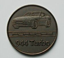 1986 PORSCHE 944 Turbo Car Copper Medal - AU++ toned-lustre - calendar coin