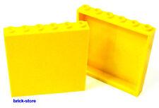 LEGO® 1x6x5  Fenster /  Wand / Panele  gelb / 2 Stück