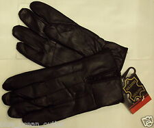 MEN DRIVING HANDS GLOVES REAL GENUINE 100% LEATHER WINTER WARM BLACK GIFT IDEA