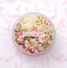 PINK ROSES drawer door cabinet Ceramic knob Blue pull kitchen living den office