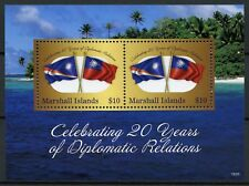 Marshall Islands 2018 MNH Diplomatic Relations Taiwan 20 Yrs 2v S/S Flags Stamps