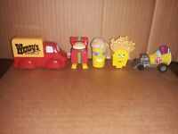 Vintage WENDY'S HAPPY MEAL Toys Lot of 5