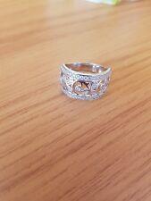 Diamonique 925 Silber Ring Größe 18 Neu