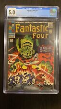Fantastic Four 49 cgc 5.0 OWW 1st Full Appearance Of Galactus 2nd Silver Surfer