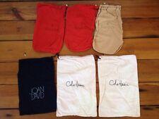 Lot of 6 Designer Shoe Dust Bags Cole Haan Joan & David Gucci